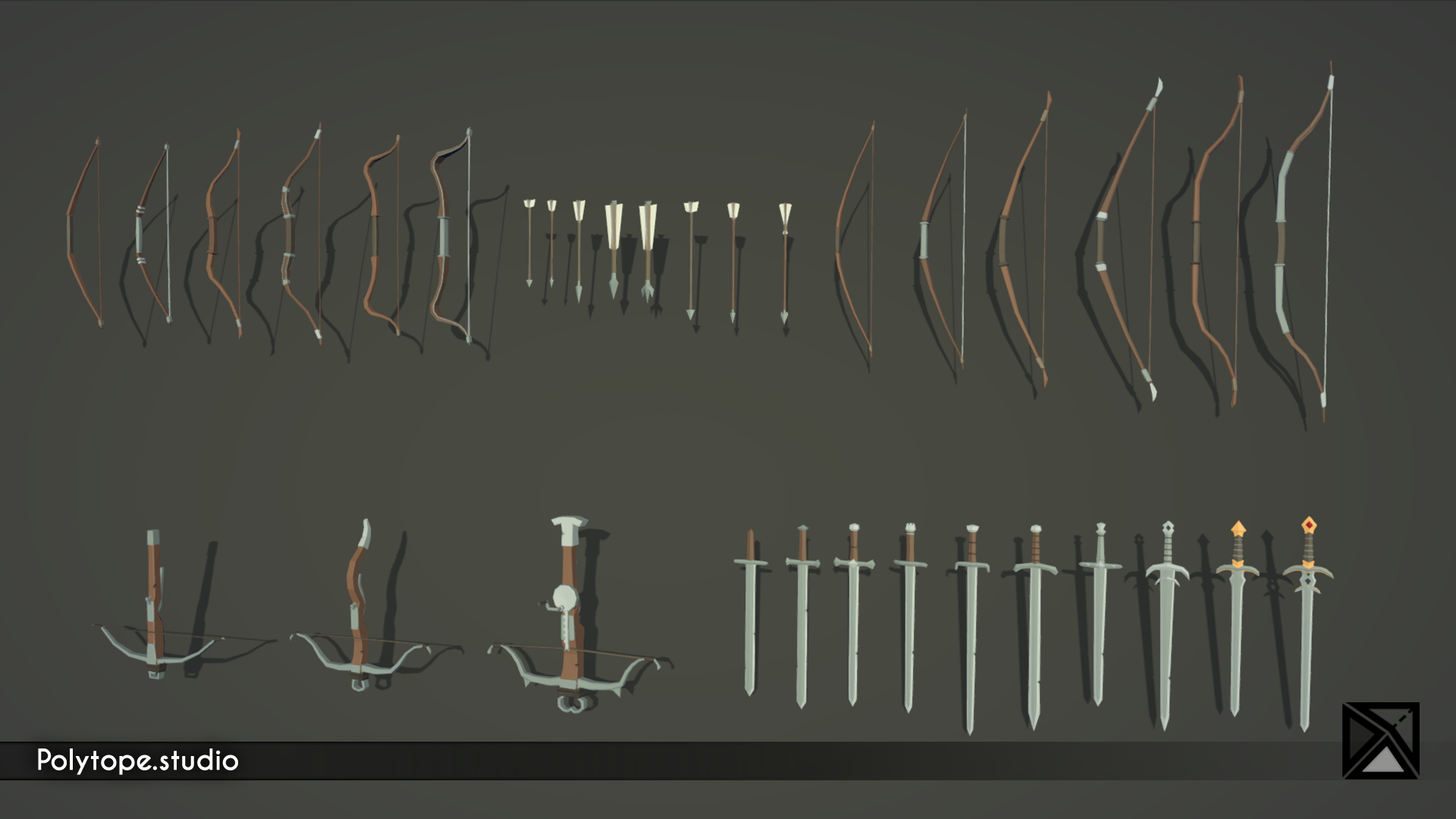 PT_Medieval_Lowpoly_Weapons_Bows_Swords_Crossbows_Arrows.png