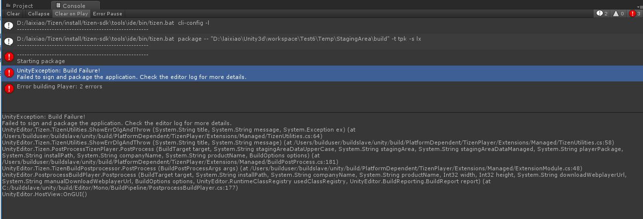 UnityException: Build Failure! - Unity Forum