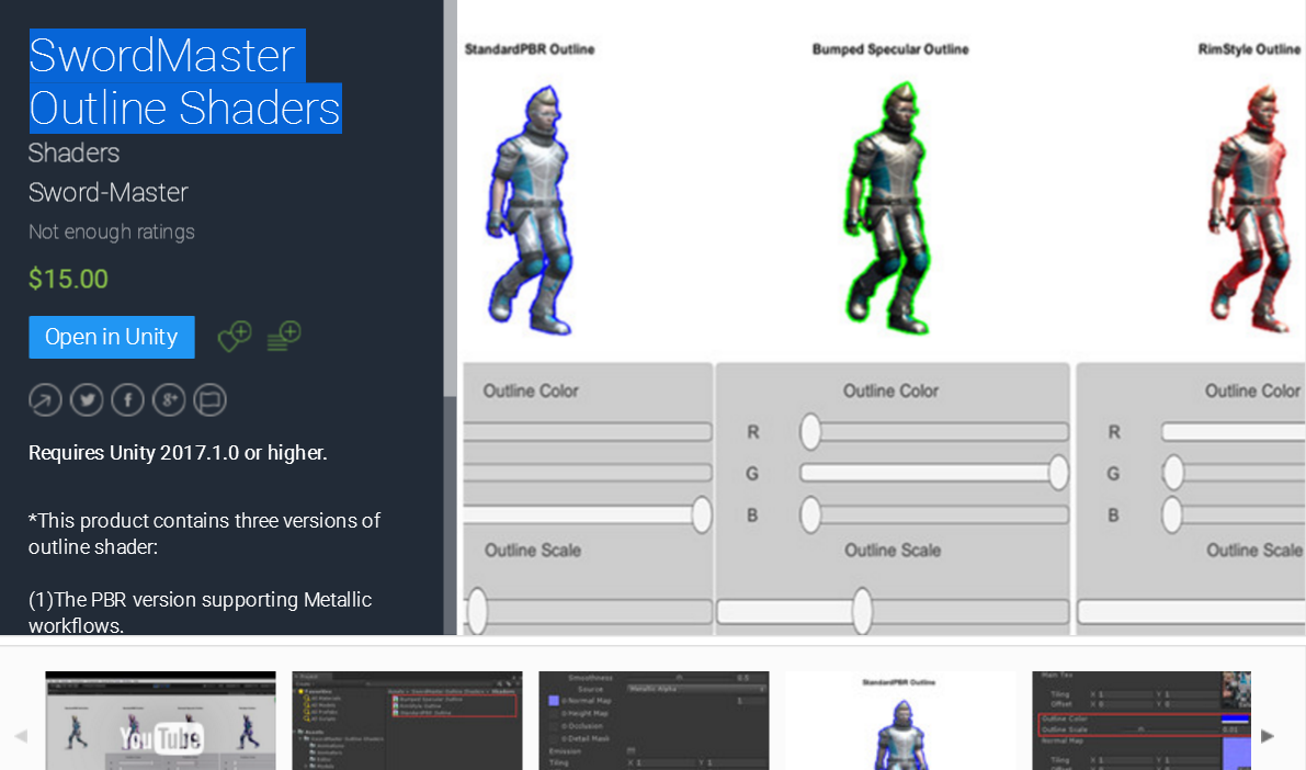 RELEASED] SwordMaster Outline Shaders (the vertex and