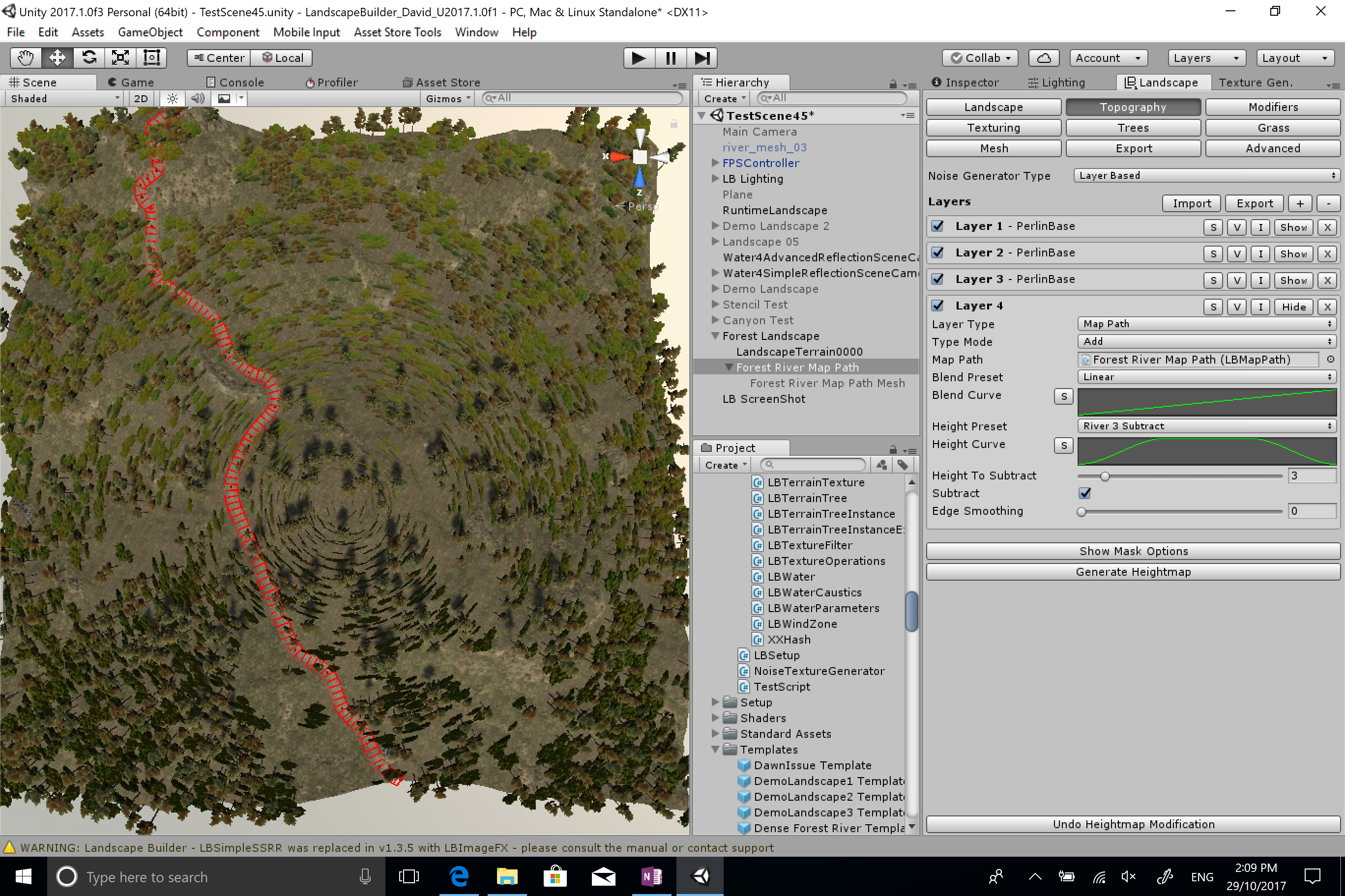 Landscape Builder 2 - Procedural Terrains, U2019 1 Support, Prefab