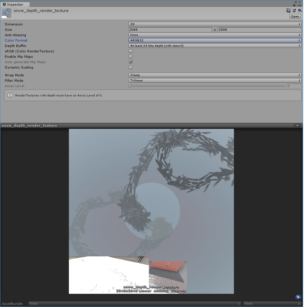 Rendering to a depth color format render texture  - Unity Forum