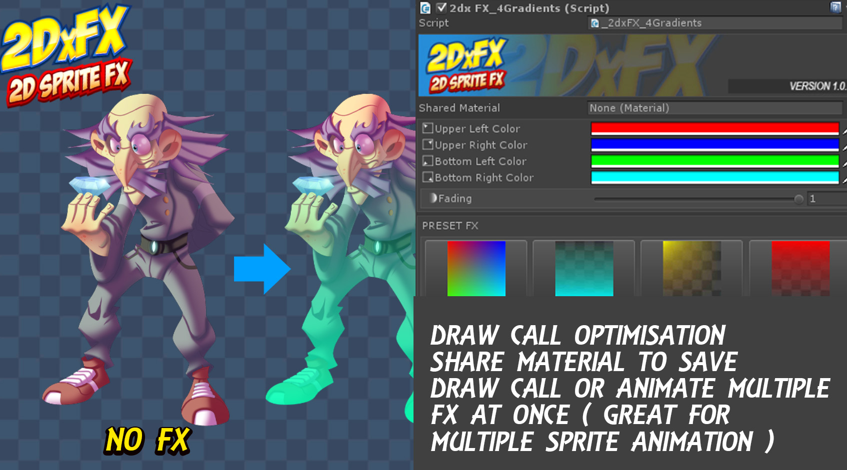 RELEASED] 2DxFX: 2D Sprite FX - Unity Forum