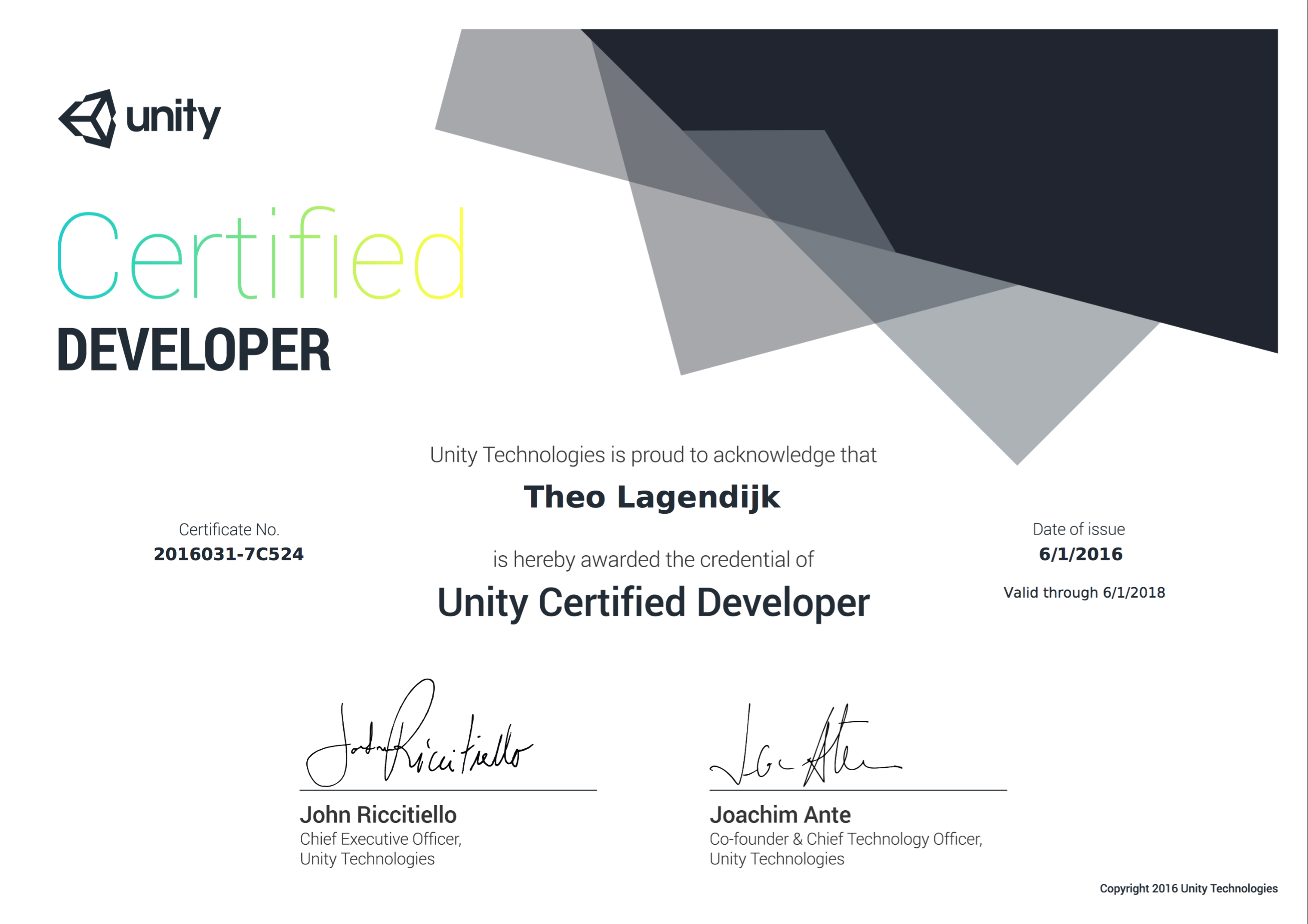 When will my certificate come online unity community screen shot 2016 06 01 at 142214g 1betcityfo Gallery