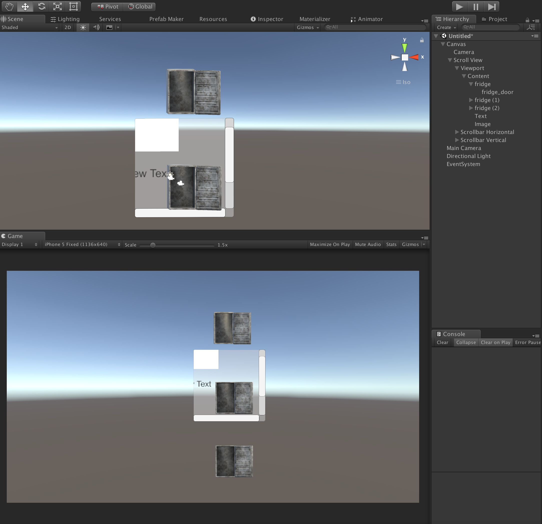 Using a 3d object with scroll view - Unity Forum