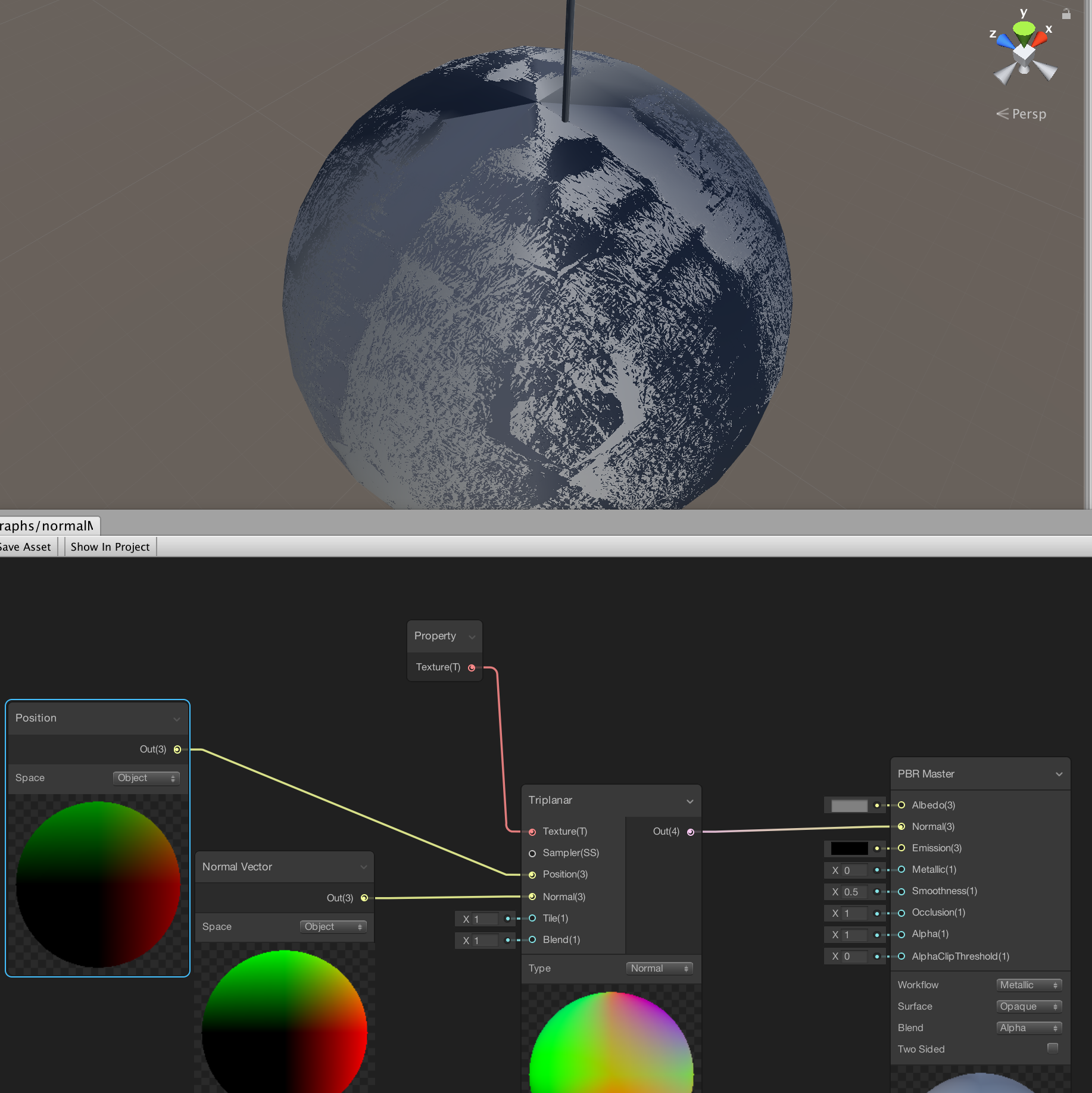 New Shader graph normal mapping - Unity Forum