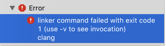 Error trying to post my project to Apple with Xcode - Linker command