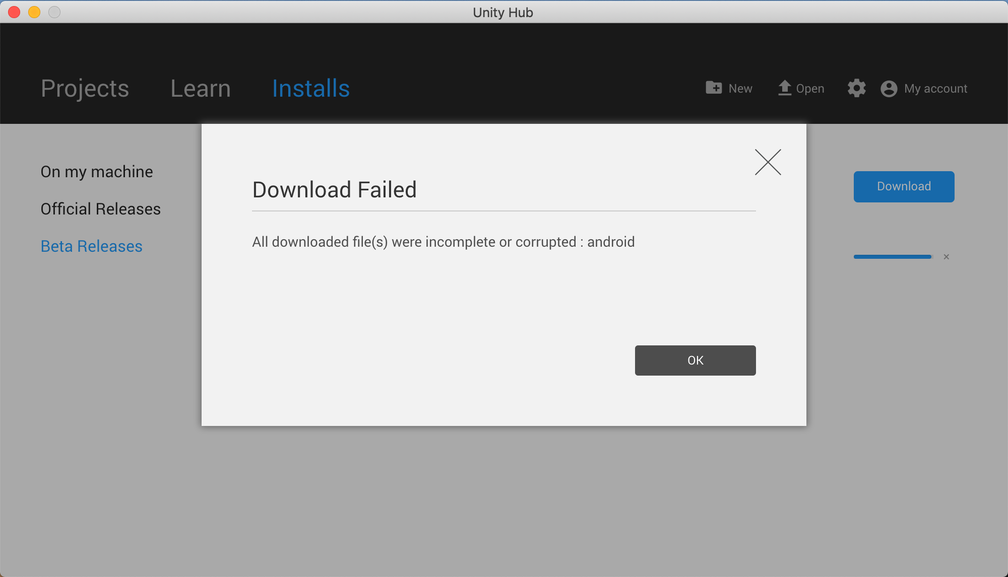 Unity 2018 3 0f1 - Cannot download android component - Unity