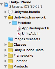 UnityAds/UnityAds h Not Found in Xcode - Unity 5 - Unity Forum
