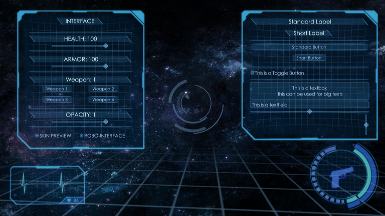 3d Holographic Interface Gui Skin Released Unity
