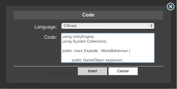 Using code tags properly - Unity Forum