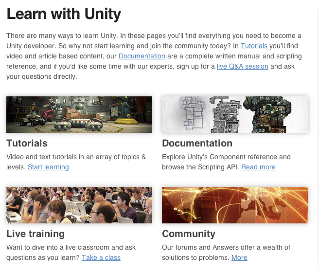 Start Here: Official Learning Resources For Unity