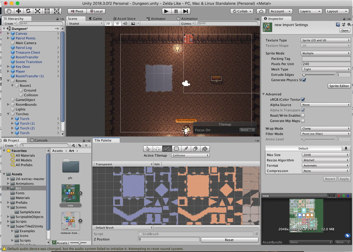 2D Tiles - Lighting issue  Light introduces transparency
