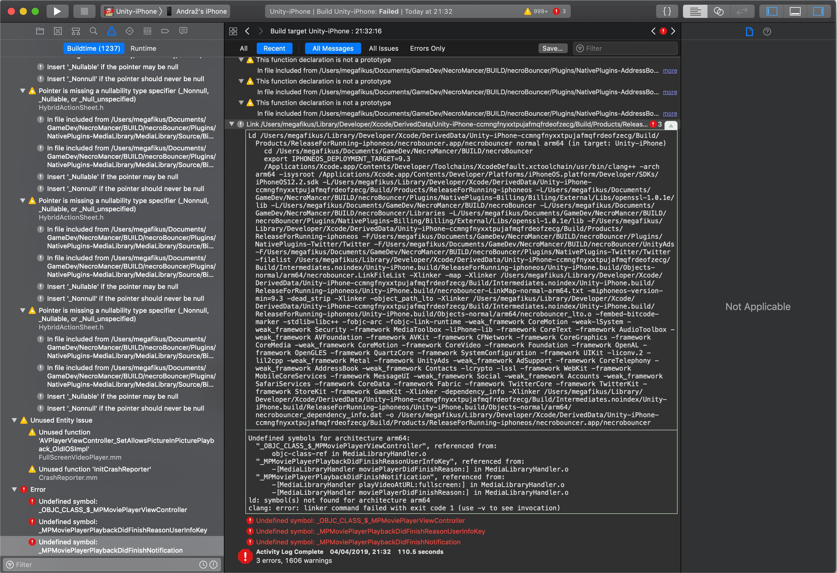 xCode errors - Unity Forum