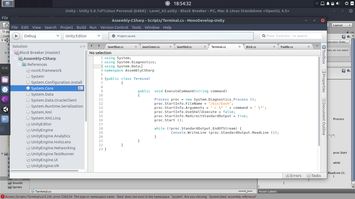 error CS0234 using monodevelop on linux - Unity Forum