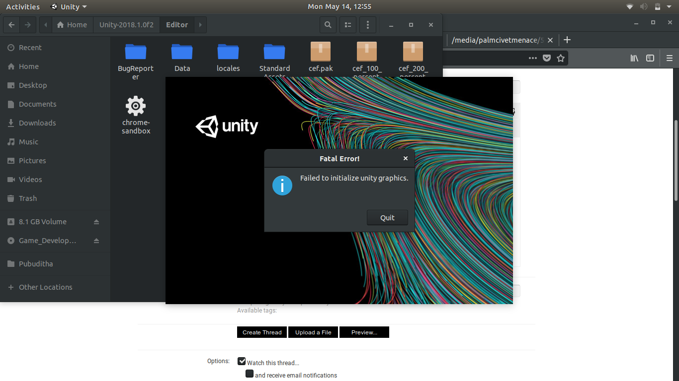 Fatal Error : Failed to initialize unity graphics - Unity Forum