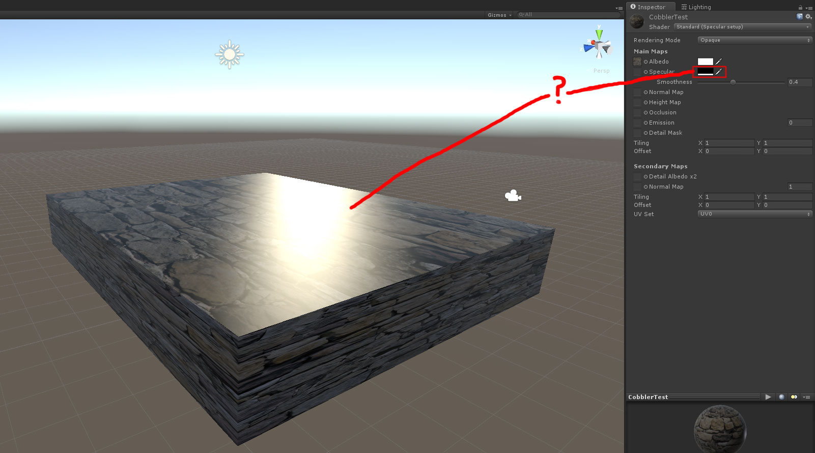 how to detect material unity