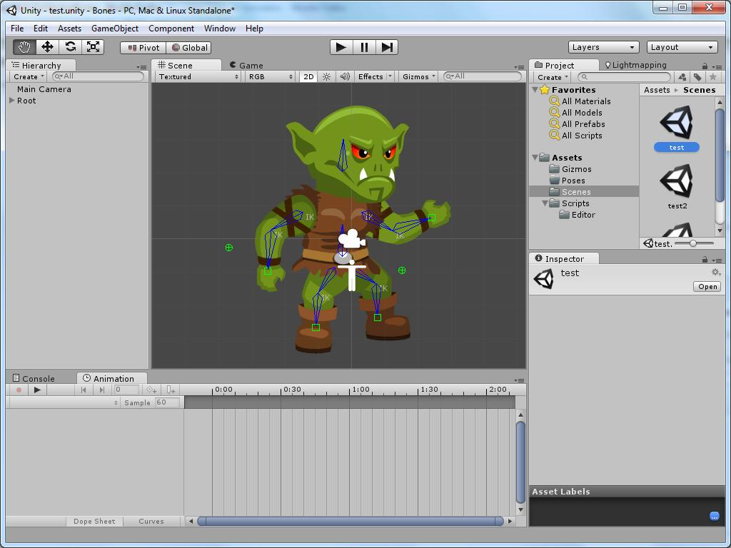 2d Character Design Software Download : Release free unity sprites and bones d skeleton animation