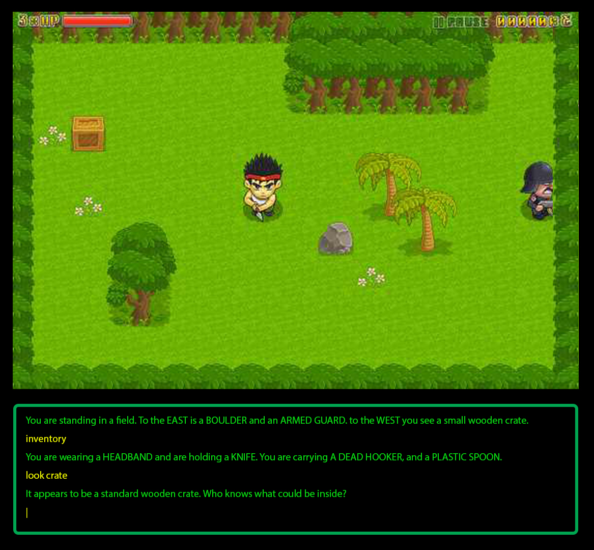 how to write a text based game in notepad