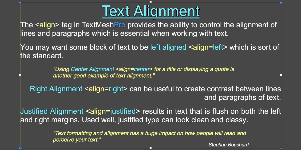 TextMesh Pro - Rich Text Tag (Align).png