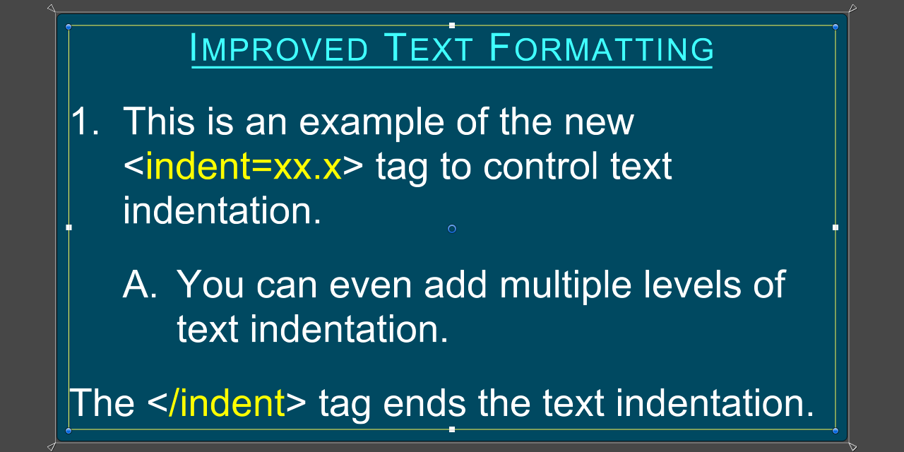 TextMesh Pro - Rich Text Tag (Indent).png