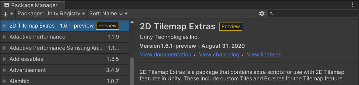 Tilemap Extras in Package Manager.png