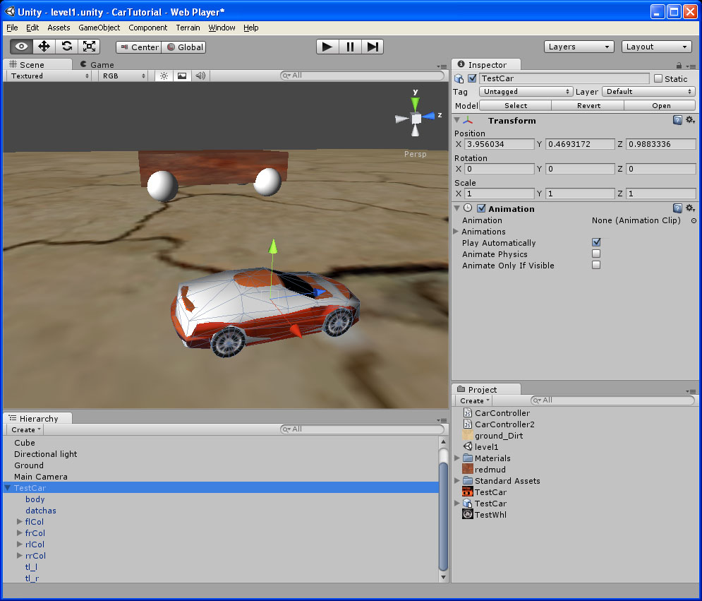 Basic To Advanced Car Or Vehicle Tutorial Unity Forum Primaryfor A Physics Power Of Leave The Imagejan Draw Tut1 004
