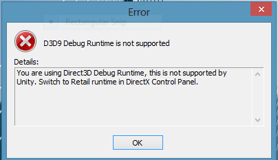 D3D9 debug is not supported - Unity Forum