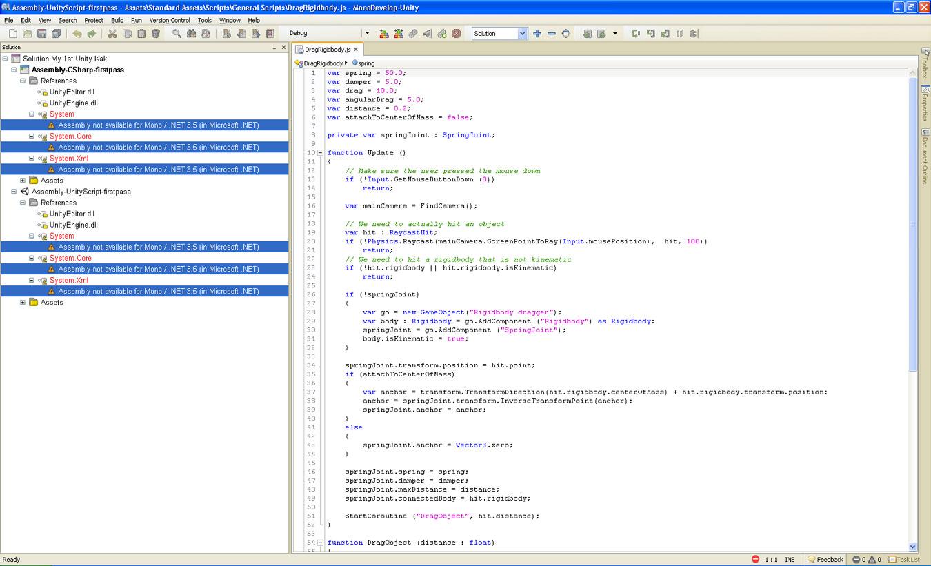 Problem with Framework \'Mono / .NET 3.5\' - Unity Forum