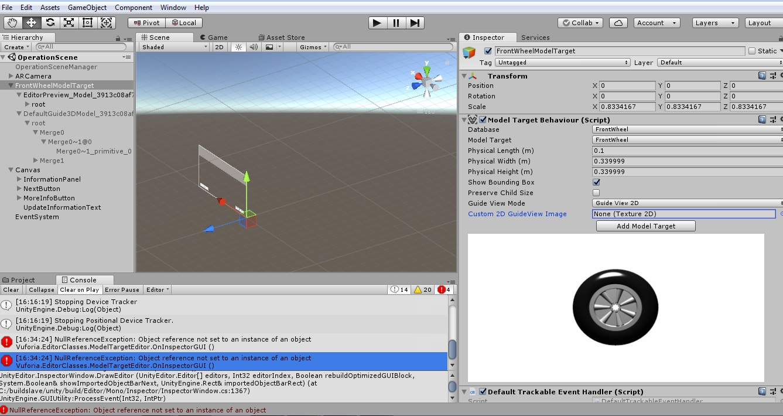 Vuforia & Unity database load problem - Unity Forum