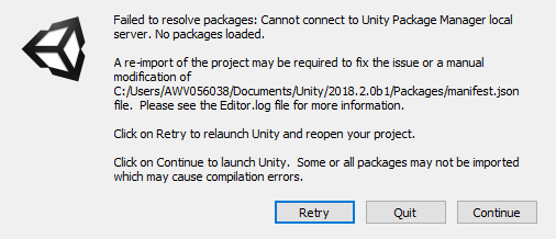 Failed to start Unity Package Manager - Unity Forum