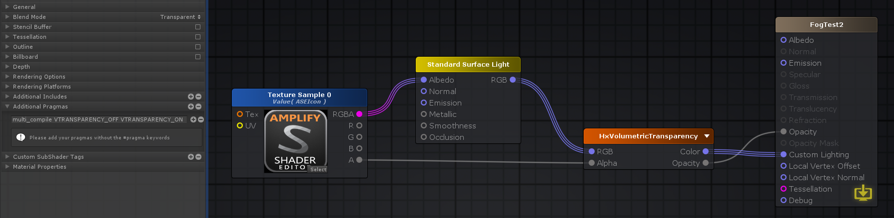 how to add a frag pass to unity standard shader