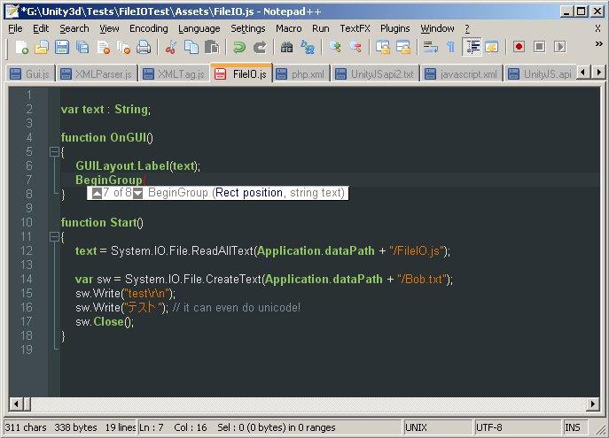 Replacing UniSciTE with Notepad++ - Unity Forum