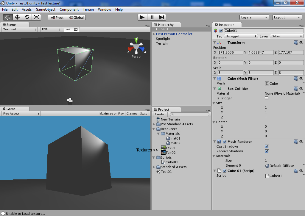 Change GameObject Texture by script - Unity Forum