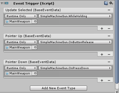 EventTrigger PointerDown not working for a press-and-hold