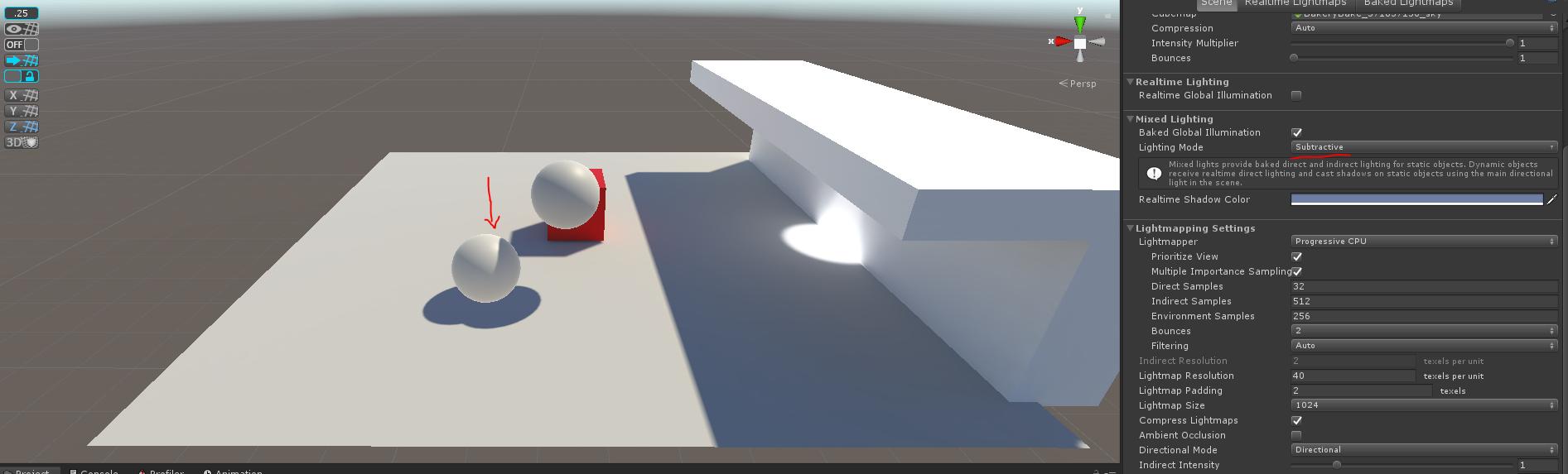 UnityNativeSubtractive_BothShadoworLight_on_spheres.PNG