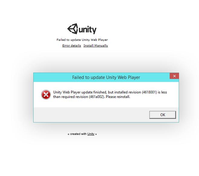 Failed to update unity web player Что Делать catalogman