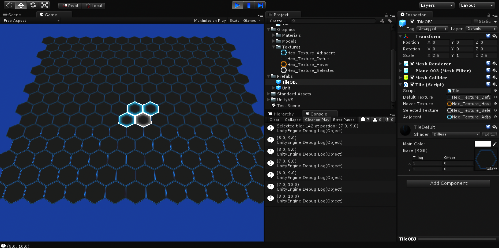 Problem with selecting adjacent tiles (hexagonal grid) - Unity Forum