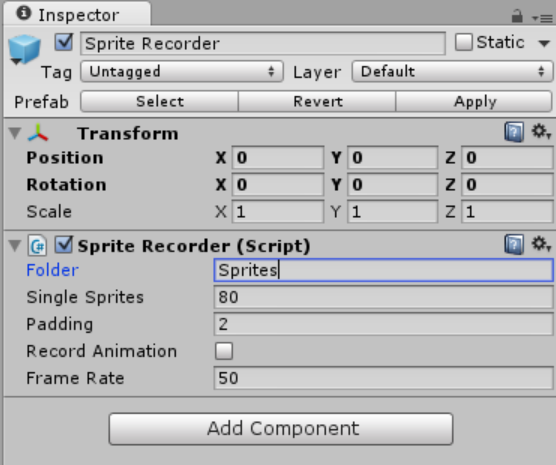 how to add sprite to unity