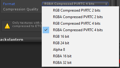 Is PVRTC really the only sprite compression option? - Unity Forum