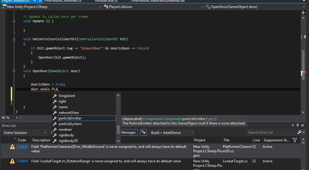 Unity 3 x Game Development Essentials C# Visual Studio