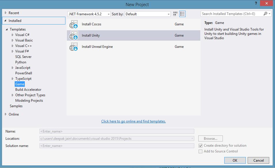 Unity Installation Warning on Visual studio 2015 - Unity Forum