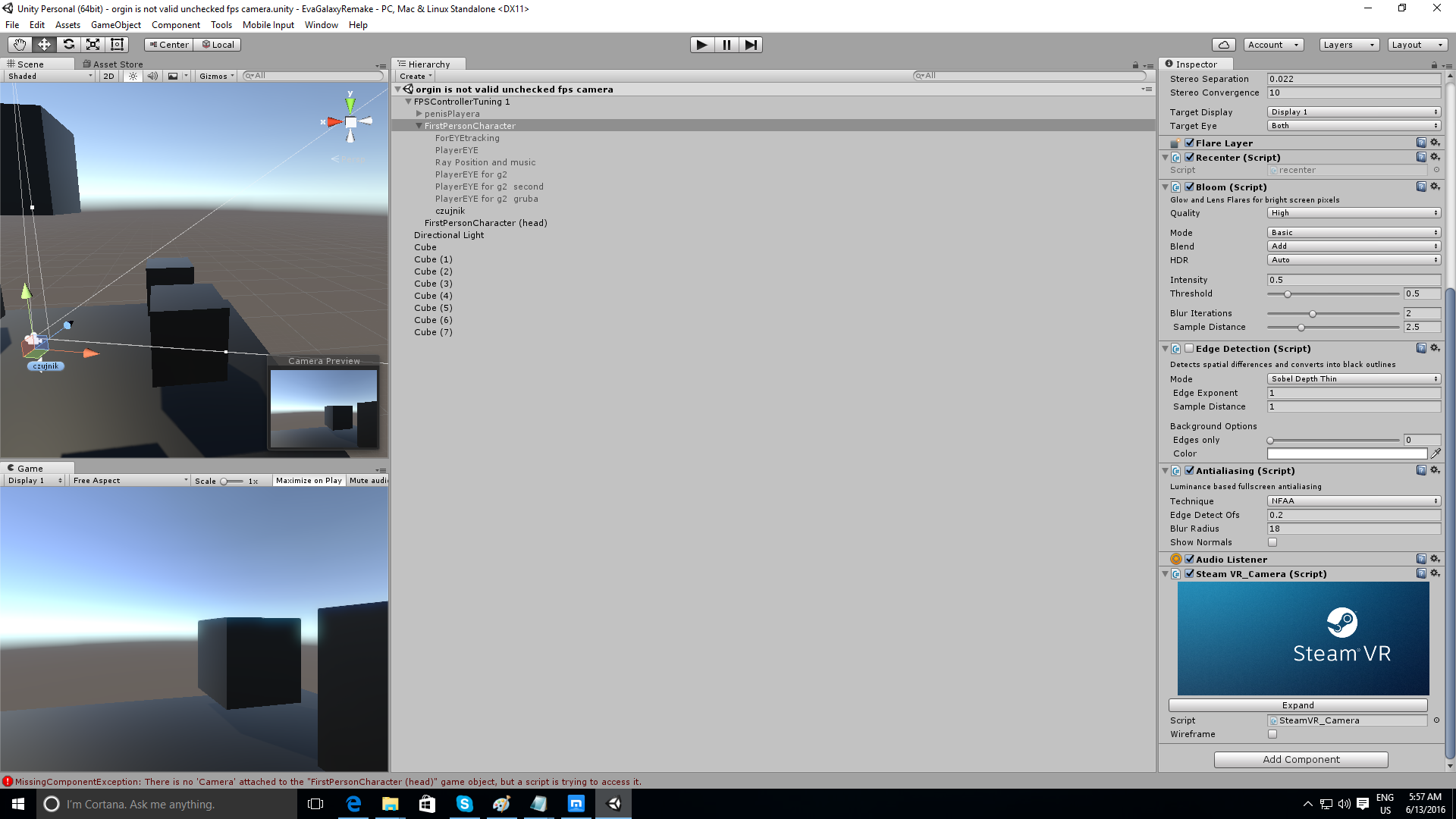 how to add steam vr (vive) to FPS unity 5 4 - Unity Forum