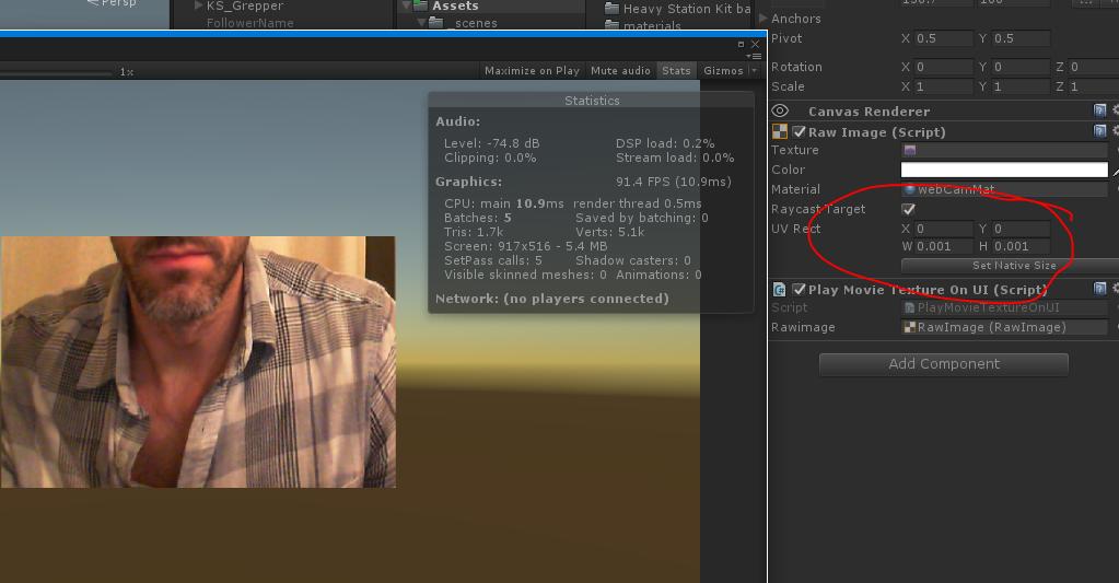 UI - WebcamTexture on RawImage - Unity Forum