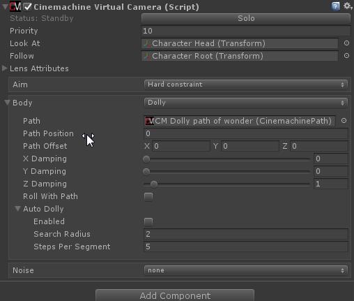 Using Cinemachine Dolly path in v2 0 - Unity Forum