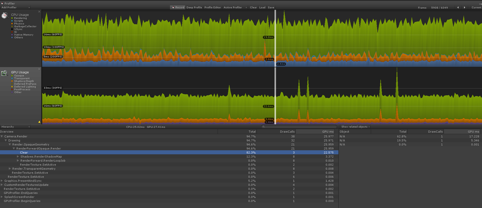 unity android profiler