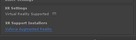 XR settings broken in release candidate - Unity Forum