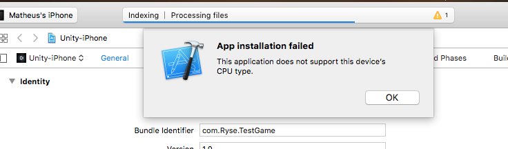 This application doest not support this device's CPU type
