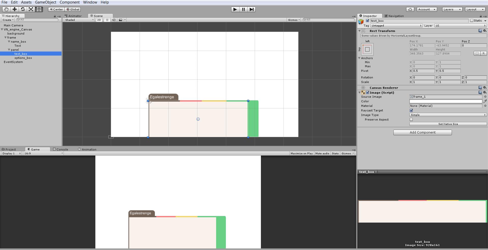 Visual Novel Frame - Horizontal and Vertical Layout Groups - Unity Forum