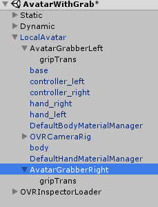 Oculus Grabber Modifications (For Finger Collisions) - Unity