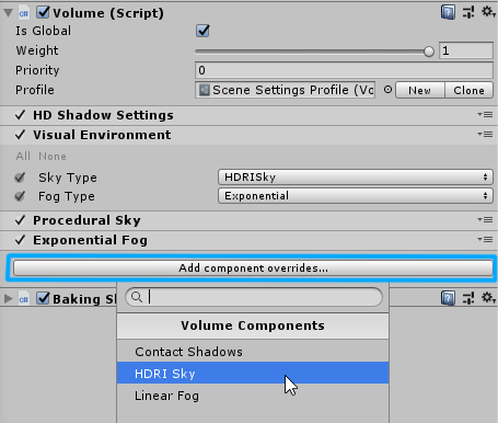 How do I go for a custom skybox using HD Render Loop? - Unity Forum